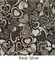 ArtGlassSupplies Etched Dichroic Crazy Hearts Pattern on Thin Black Glass - COE90
