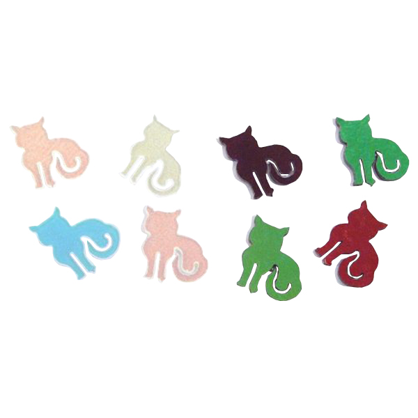 Dichroic Cat, Assorted Colors, Pack of 4 - COE90