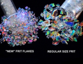 CBS Rainbow Dichroic Frit Flakes 1oz On Clear Glass - COE90