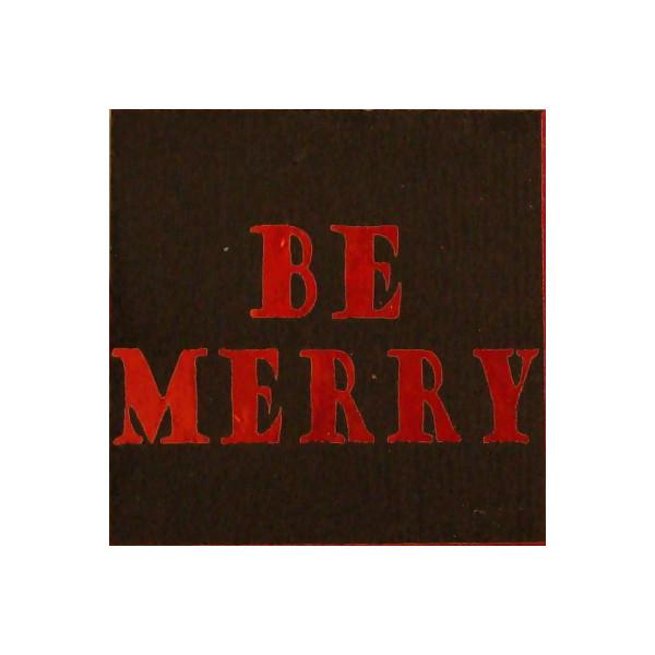ArtGlassSupplies.com Etched Dichroic Accent Square - Be Merry - COE90