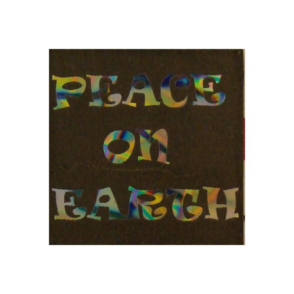 ArtGlassSupplies.com Etched Dichroic Accent Square - Peace on Earth - COE90