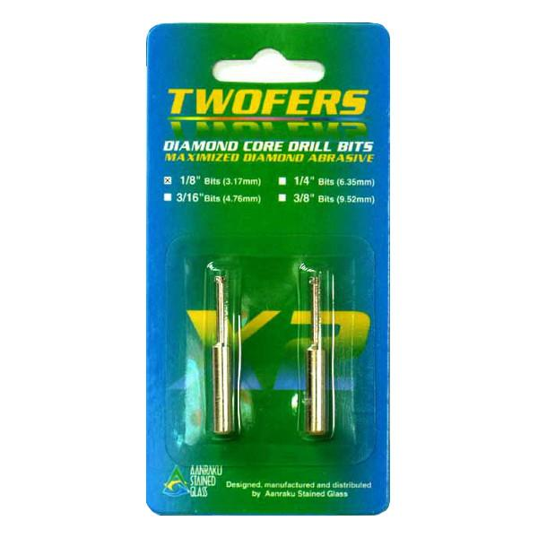 "Aanraku Twofers  1/8"" Diamond Core Drill Bits"