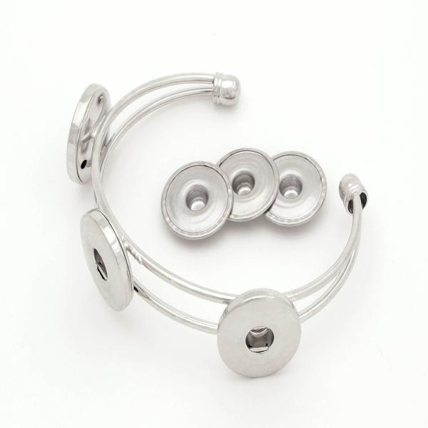 Aanraku Snap Bracelet with Three Snap Discs
