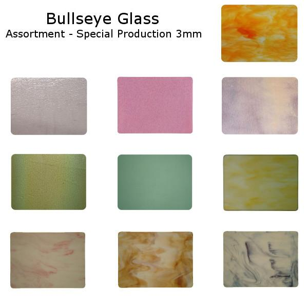 Bullseye Glass Assortment - Special Production 3mm - COE90