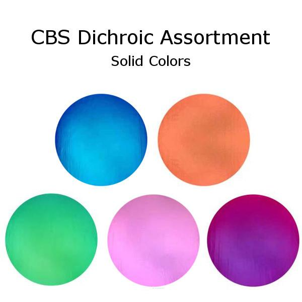 CBS Dichroic Solid Color Assortment on Thin Black - COE96