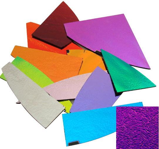 CBS Crinklized Dichroic Scrap by Weight - Solid Thin Glass - COE90