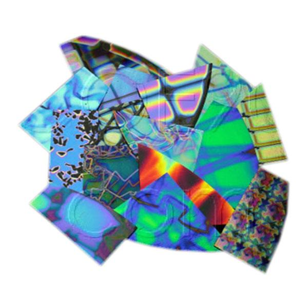 CBS Dichroic Scrap by Weight - Patterned Thin  Glass - COE90