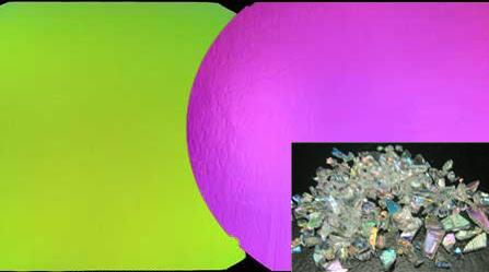 CBS Green/ Magenta Dichroic Frit 1oz On Clear Glass - COE90