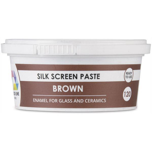Color Line Silk Screen Paste, Brown, 5.2 oz.