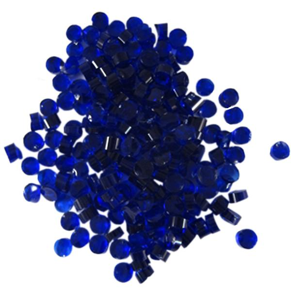 Deep Royal Blue Transparent Dots - COE90