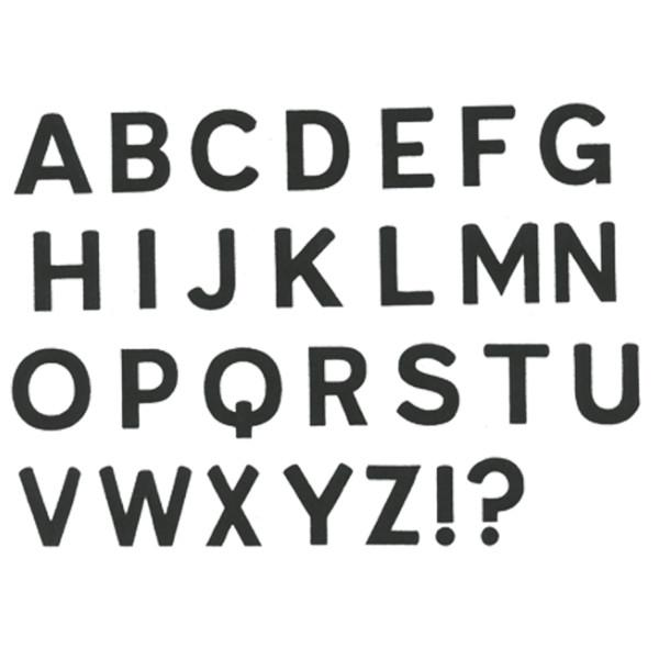 Designer Silk Screen - Alphabet Upper Case Pattern