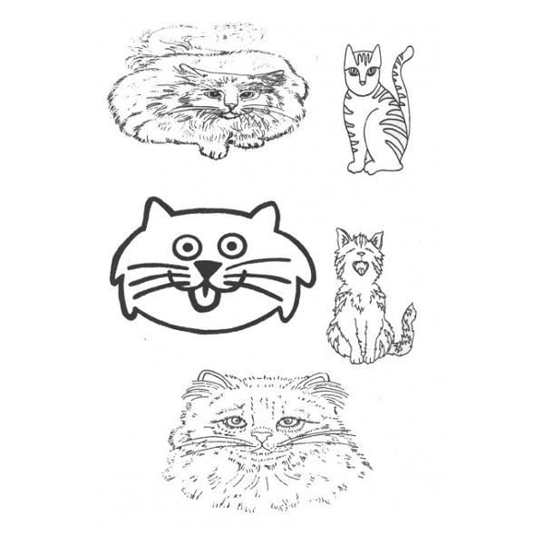 Designer Silk Screen - Cat Pattern