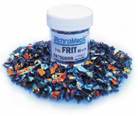 DichroMagic Rainbow Dichroic Frit 1oz On Black Glass - COE90