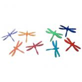 Dichroic Dragonfly, Large, Assorted Colors, Pack of 2 - COE90