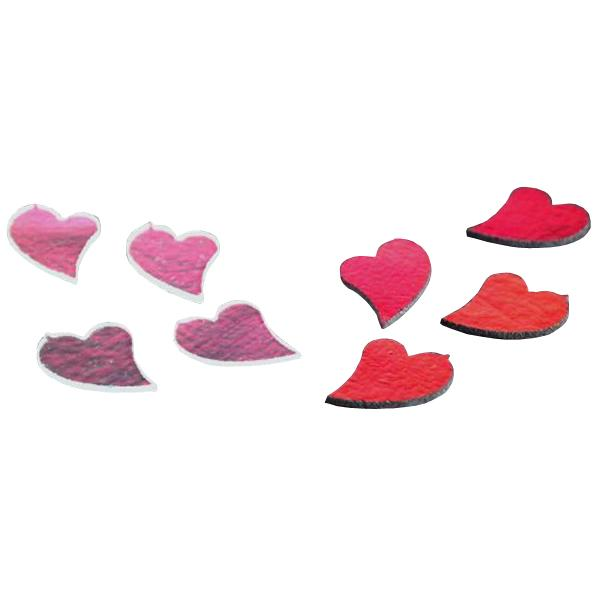 Dichroic Heart, Assorted Colors, Pack of 4 - COE90