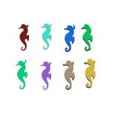 Dichroic Sea Horse, Assorted Colors, Pack of 4 - COE90