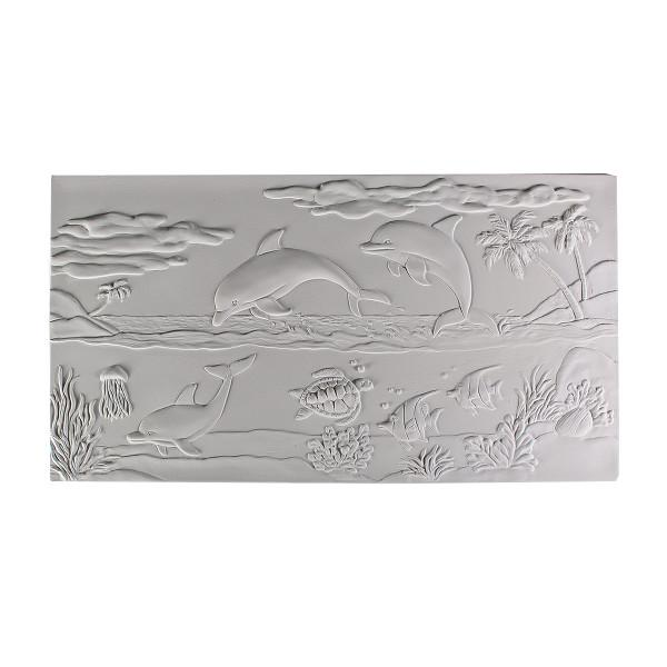 Dolphin Seascape Textured Fusing Tile