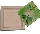 "Dragonflies 6"" Tile Kiln Casting Mold (Dragonfly)"