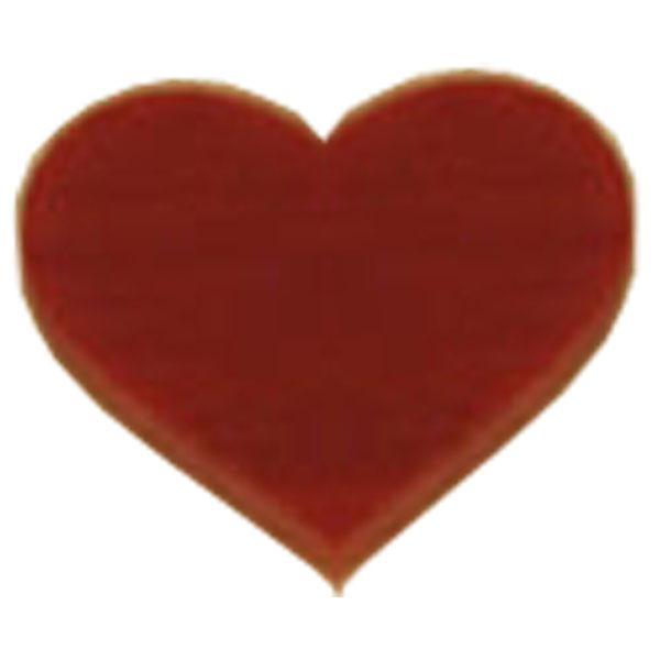 "Fusible 1"" Red Hearts, Pack of 6 - COE90"