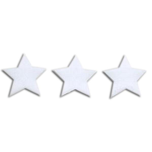 "Fusible 1"" White Stars, Pack of 6 - COE90"