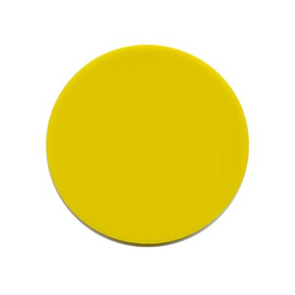 Precut Circles Sunflower Yellow Opalescent - COE90