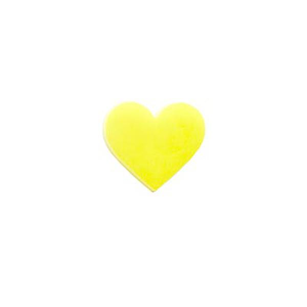 Precut Heart Canary Yellow - COE90