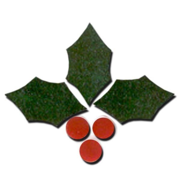 Fusible Holly Leaf Cluster Pack - COE90