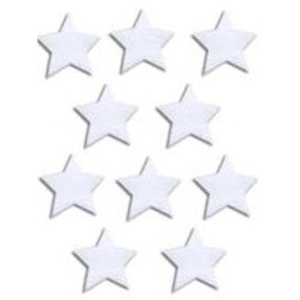 "Precut 1/2"" White Stars - Pack of 10- COE90"