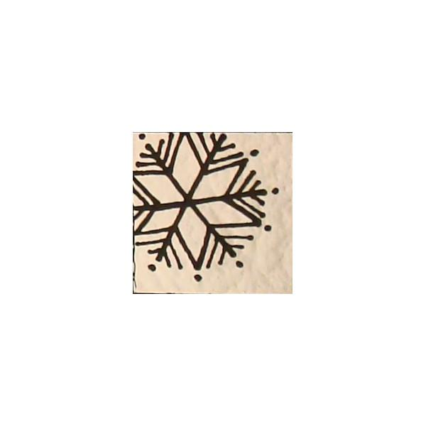 Chris Stell Hand Etched Snowflake on CBS Red/ Silver Blue Coating on Thin Black  Glass - COE90