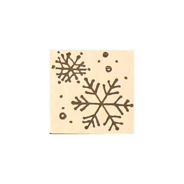 Chris Stell Hand Etched Snowflake on CBS Red/ Silver Coating on Thin Clear Glass - COE90