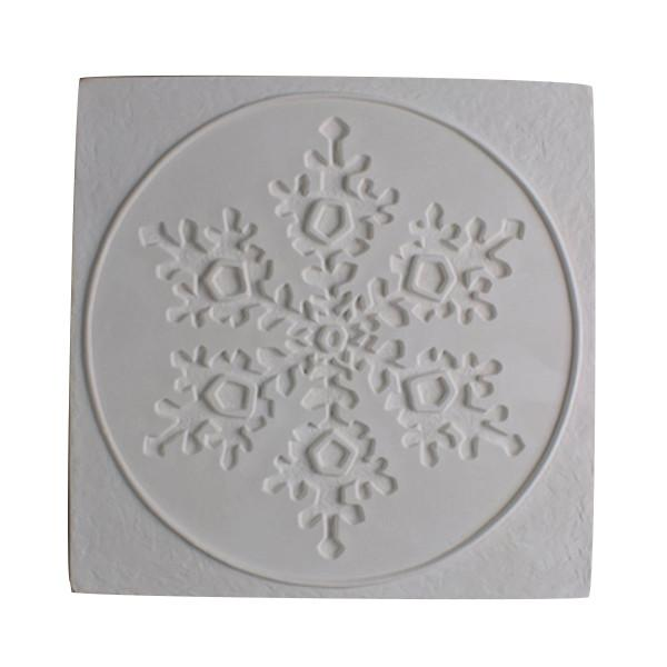 Snowflake in Square Texture Fusing Tile